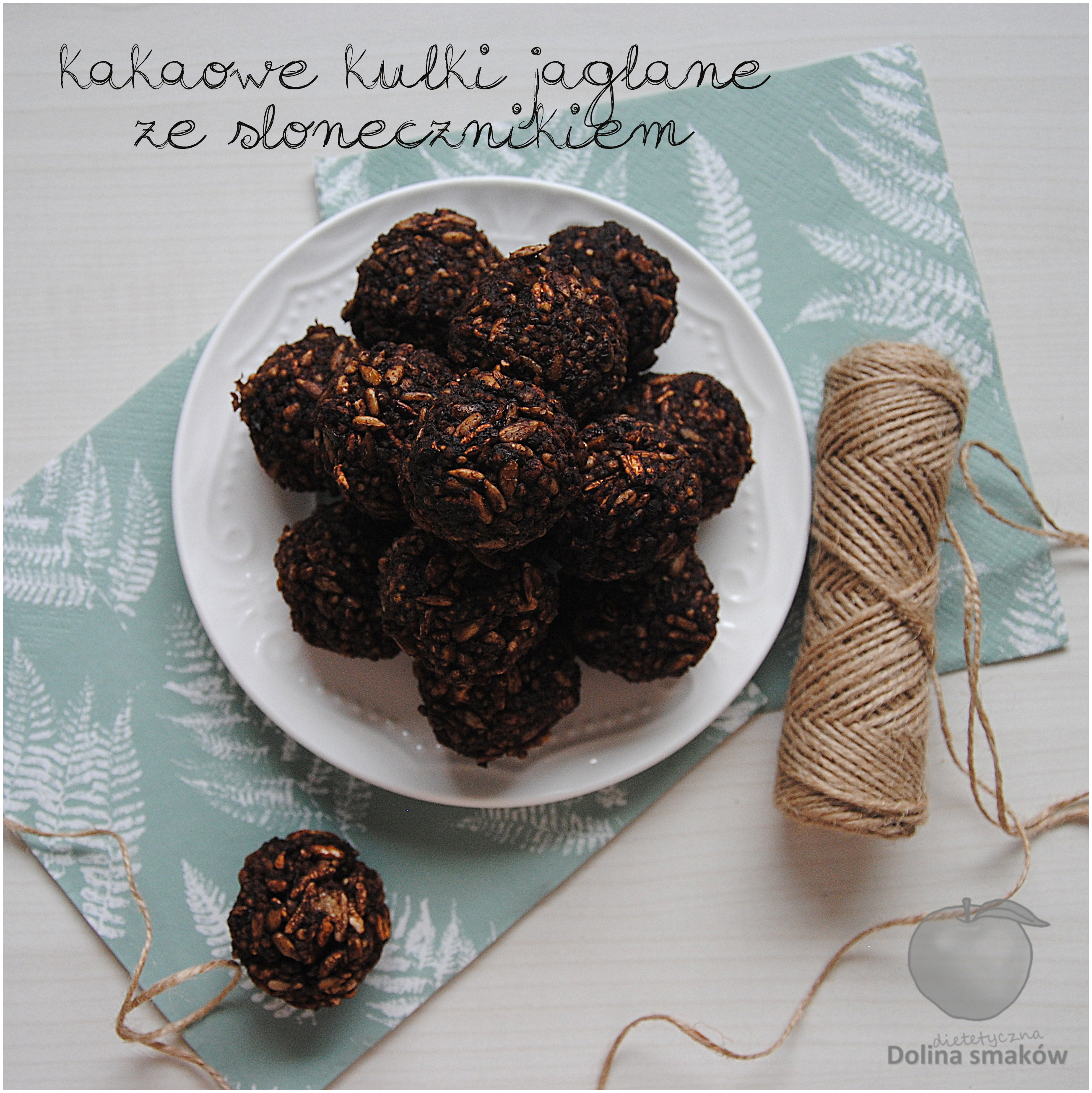 kakaowe kulki jaglane ze słonecznikiem
